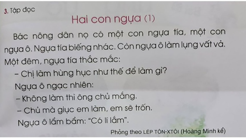 Những bài học gây tranh cãi trong sách giáo khoa Tiếng Việt lớp 1