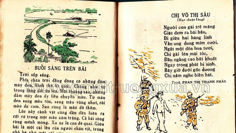 Hình ảnh sách Tập đọc lớp 1 năm 1985 đánh thức tuổi thơ của bao thế hệ học trò