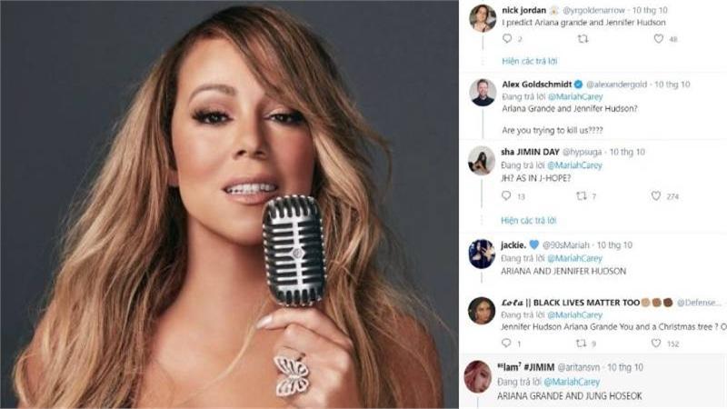 Jennifer Hudson và J-Hope (BTS) được dự đoán sẽ góp mặt trong dự án Giáng sinh của Mariah Carey