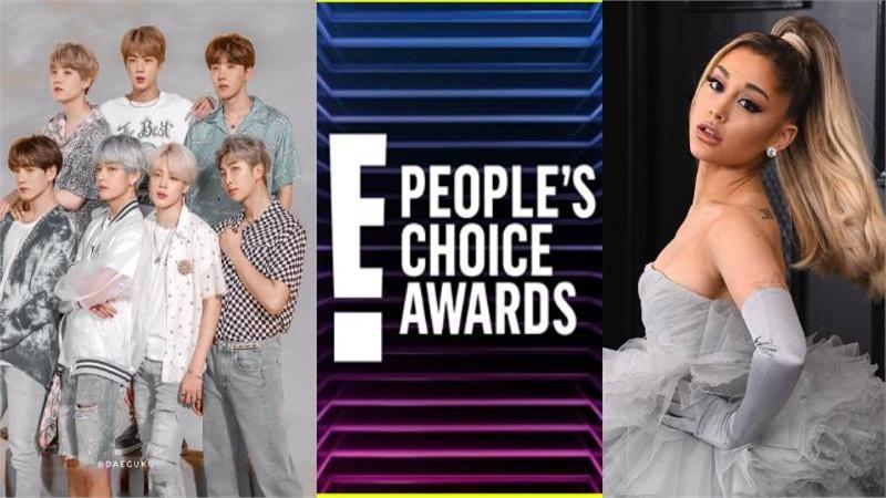 BTS và Ariana Grande cùng nhau thắng lớn tại People Choice's Awards 2020