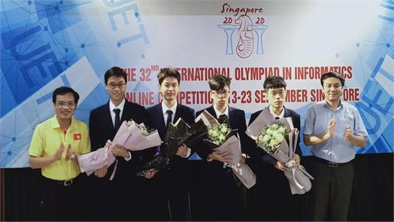 Học sinh Việt Nam giành 4 huy chương Olympic Tin học quốc tế 2020