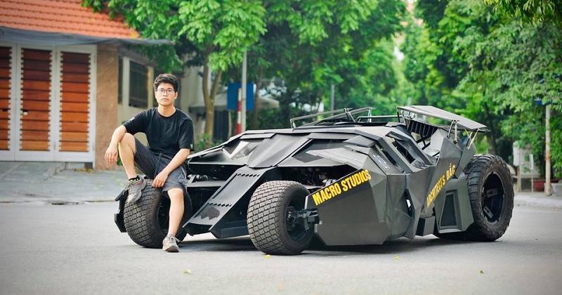 Thích làm những thứ độc lạ, 9X mạnh tay chi nửa tỷ đưa 'siêu xe' của Người Dơi vào đời thực