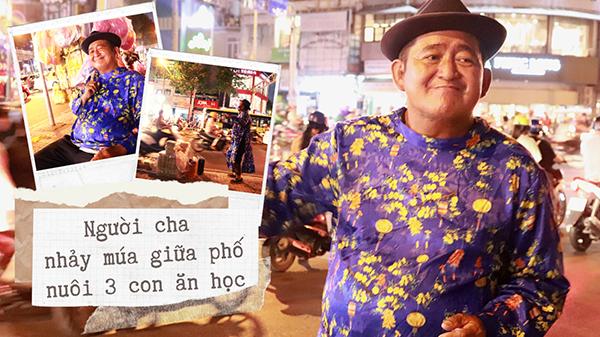Người cha nhảy múa trên phố Sài Gòn nuôi 3 người con ăn học: 'Năm nay tôi được về quê đón Tết rồi'