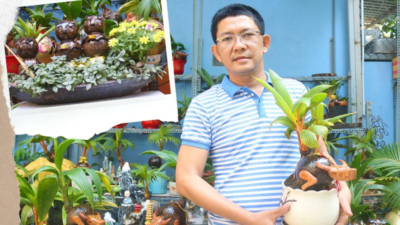 Trend trang trí Tết 2021: Chiêm ngưỡng dàn Bonsai dừa hình trâu có 1-0-2