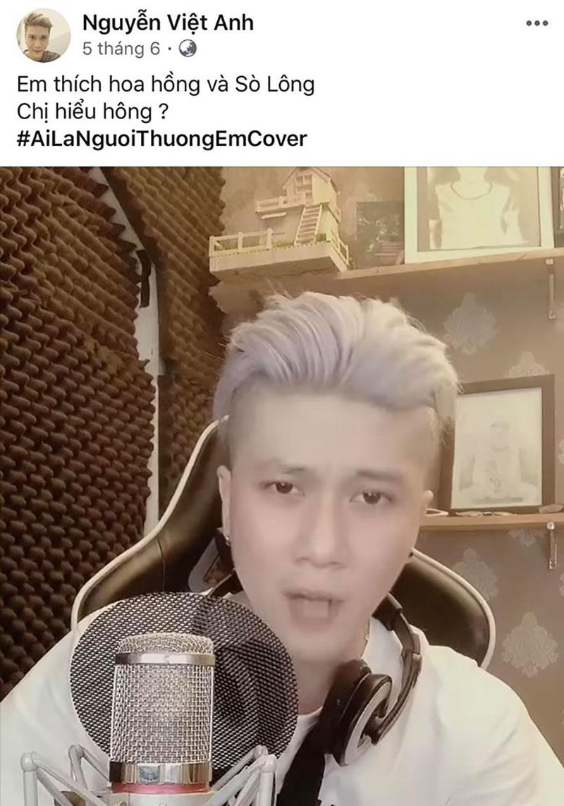 Bản cover 'Ai là người thương em' từ tháng 6 là video gần đây nhất của Việt Anh