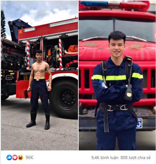 Chàng lính cứu hỏa được truy tìm info một cách rầm rộ vì quá điển trai