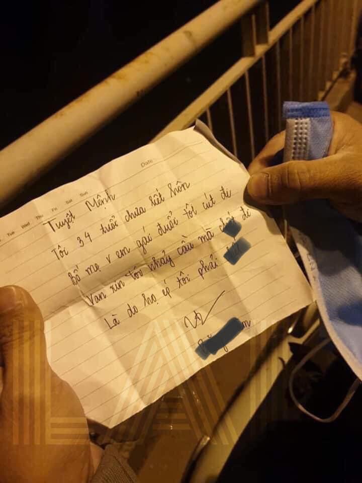 Bức thư cô gái trẻ để lại trước khi nhảy xuống sông tự tử