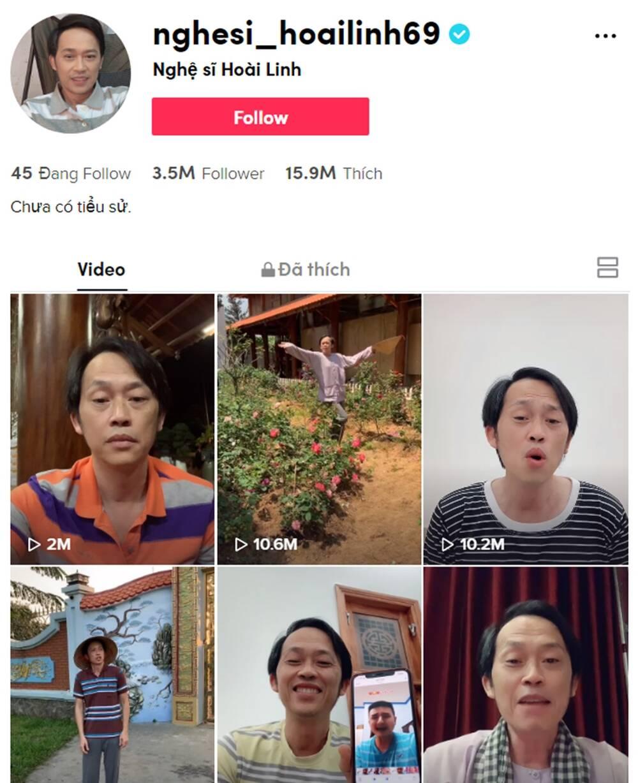 Sau 1 tuần lập tài khoản, nghệ sĩ Hoài Linh thu hút 3.5 triệu người theo dõi, nhận 'sương sương' 15.7 triệu lần 'thả tim'.