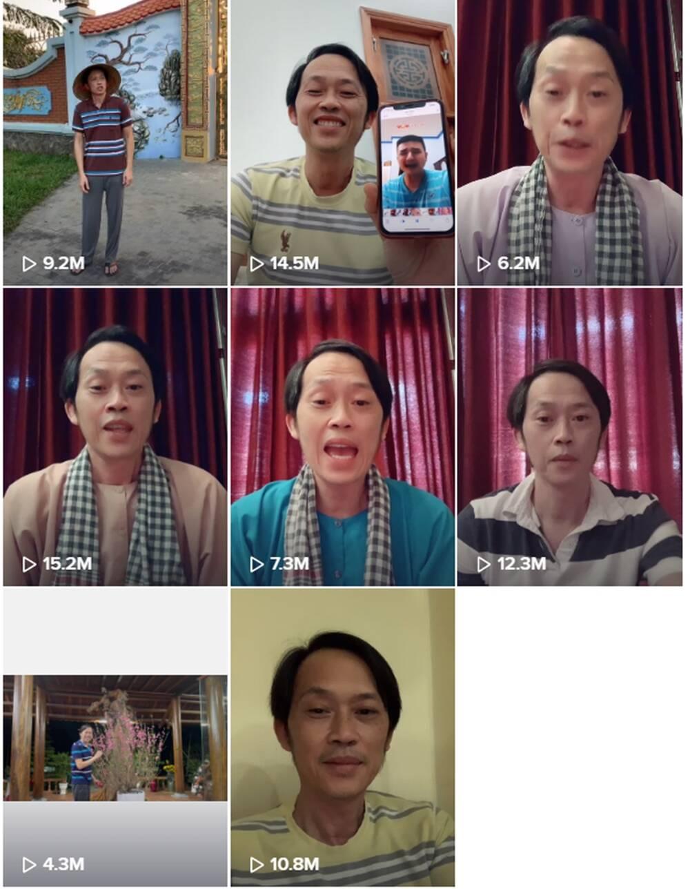 11 video của NSƯT Hoài Linh thu về hơn 100 triệu view.