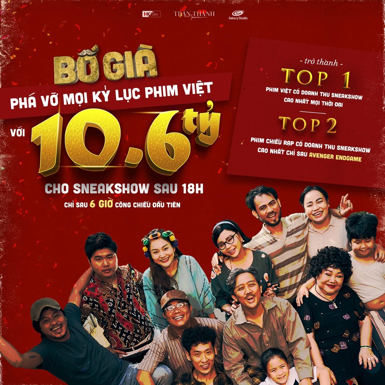 'Bố già' của Trấn Thành là phim Việt có doanh thu sneakshow sau 18h cao nhất mọi thời đại 0