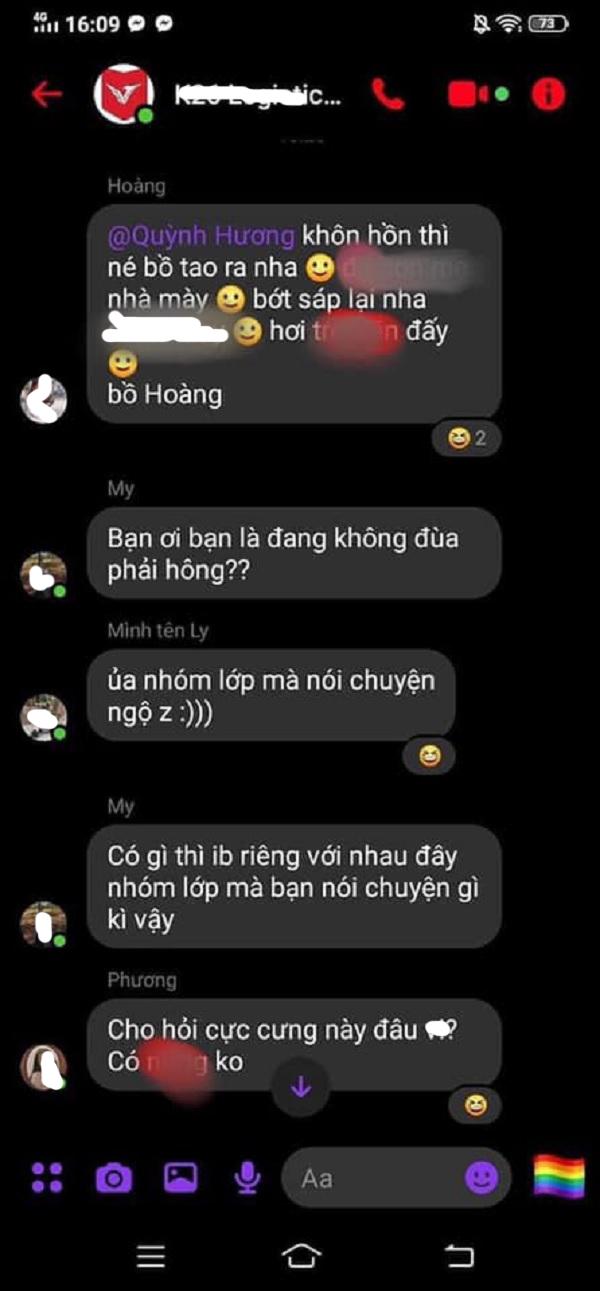 Cô bạn gái đã đăng nhập vào nick bạn trai và nhắn thẳng vào nhóm chat của lớp bằng những từ ngữ thô tục