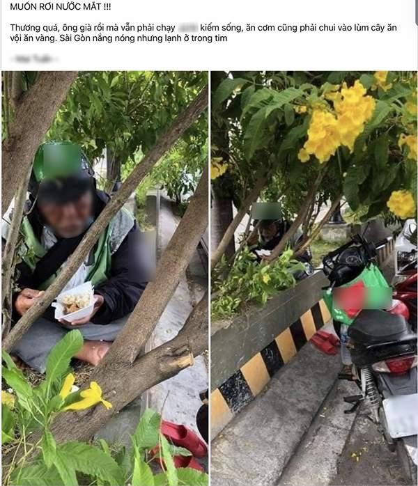 Hình ảnh được chia sẻ trên các trang mạng xã hội gây nhiều xúc động.