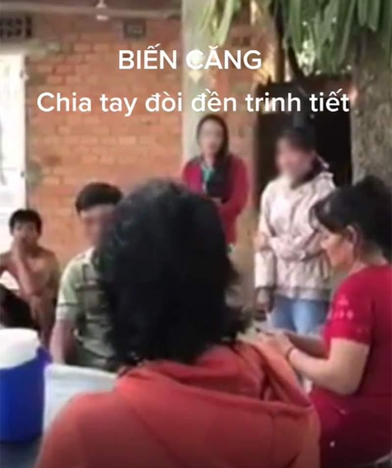 Màn đối đáp của con dâu và mẹ chồng khiến nhiều người thực sự sốc.Ảnh cắt từ clip.