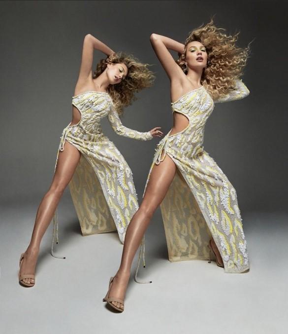 Nữ diễn viên múa Maddie Ziegler trong hai thiết kế thương hiệu CONG TRI trên tạp chí Wonderland.