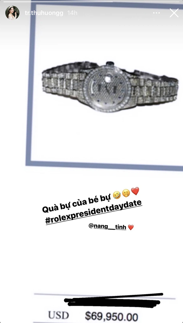 Chiếc đồng hồ có giá bằng cả cái nhà mà Thu Hương được nhận.