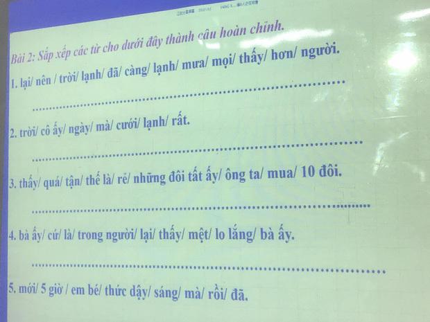 Bài tập nối từ 'khó nhằn'mà người Việt có khi còn không làm được.