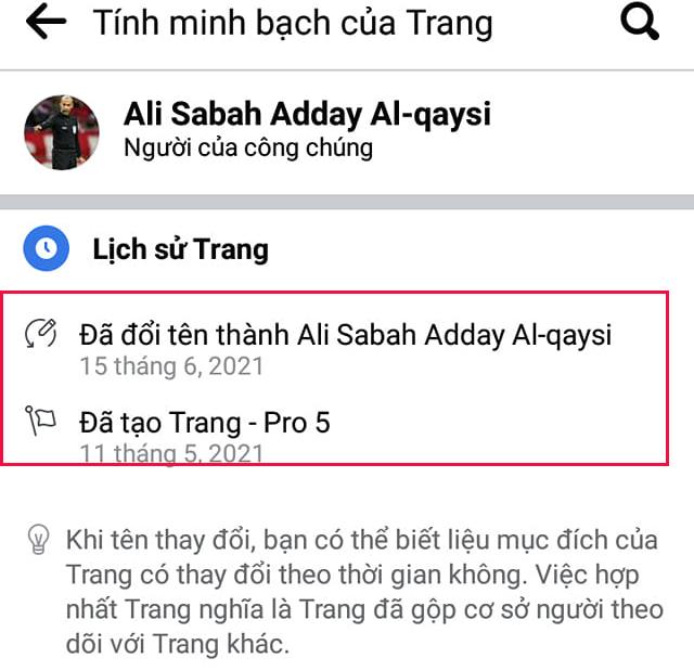Lịch sử chỉnh sửa của trang cho thấy, trang được đổi tên thành Ali Sabah Adday Al-qaysi ngày 15/6