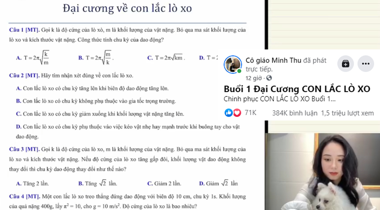 Cô giáo Minh Thu đạt 1,2 triệu lượt xem sau vài giờ livestream, sau 12 giờ thì con số đã lên đến 1,5 triệu lượt xem.