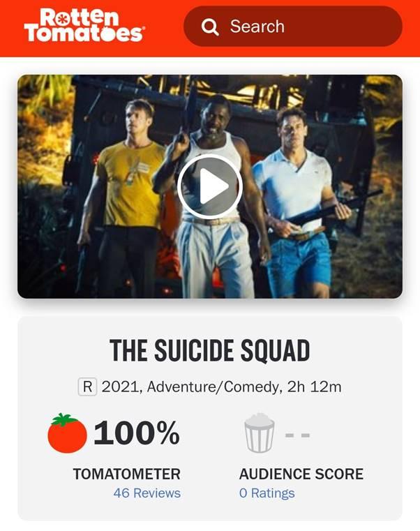 Bom tấn 'The Suicide Squad' vừa mở điểm đã đạt 100% cà chua tươi 0