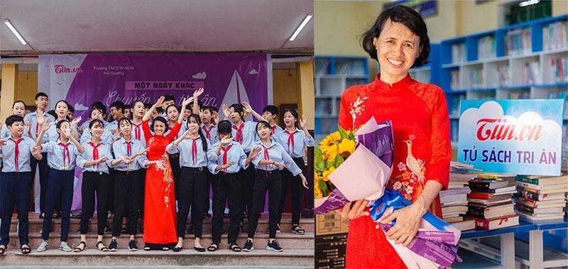 Chương trình Một ngày khác chuyến đò tri ân cho cô giáo bị mắc căn bệnh ung thư ở THCS Tứ Minh - Hải Dương.