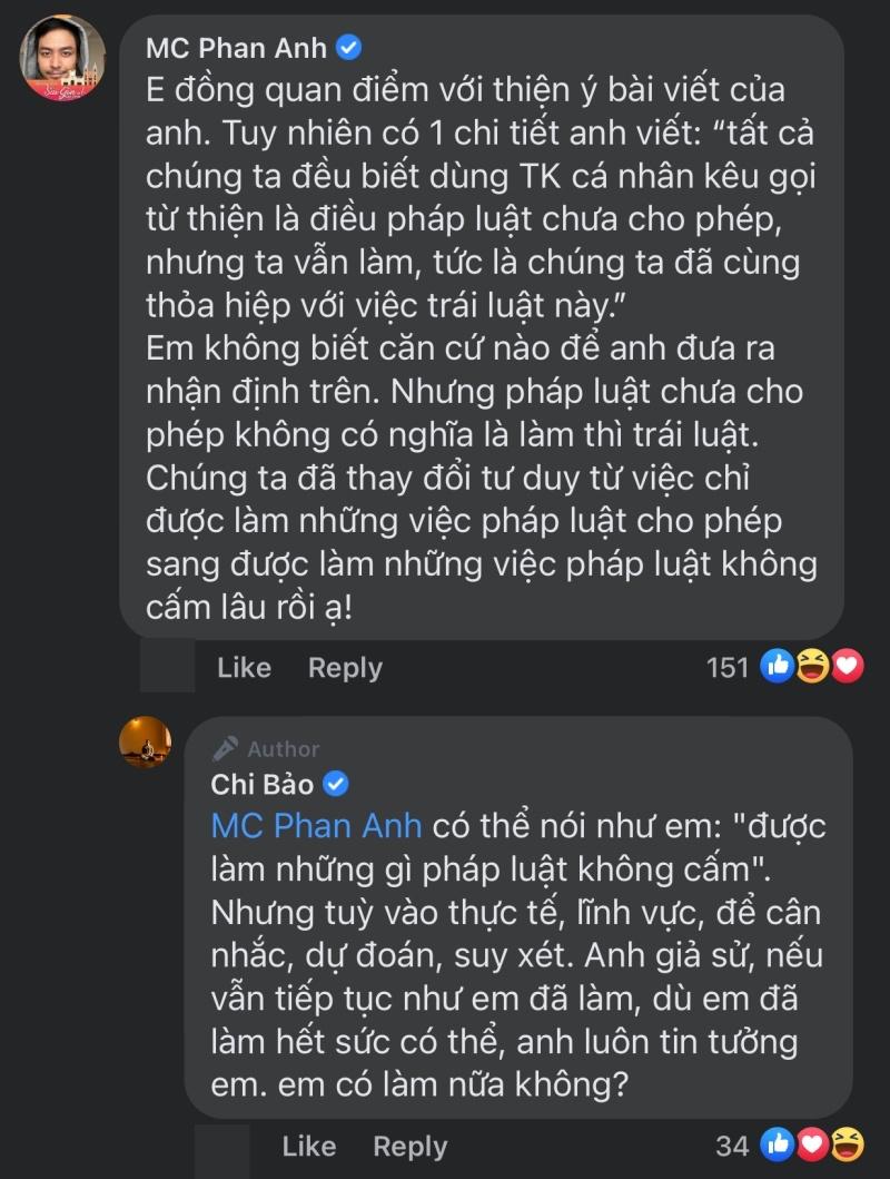 Chi Bảo khẳng định dùng số tài khoản cá nhân kêu gọi từ thiện là trái luật, Phan Anh phản đối 2