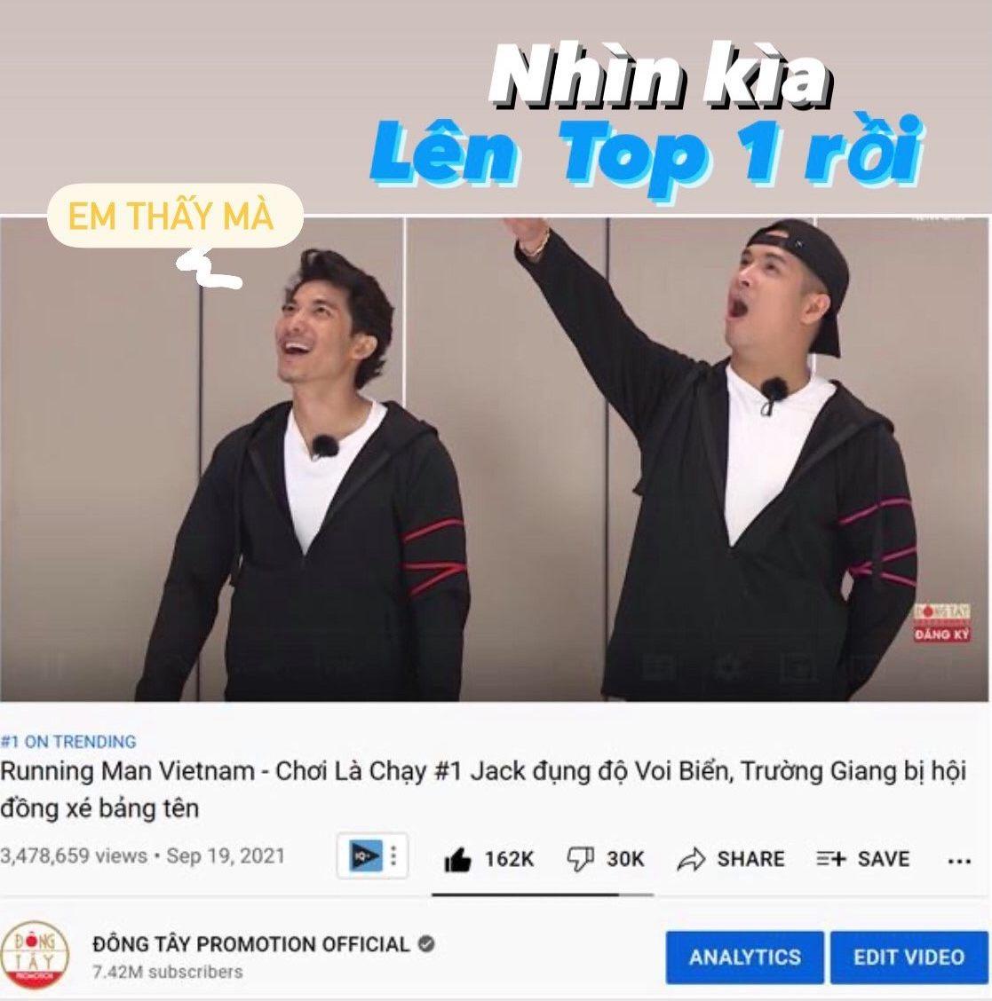 Tập 1 Running man đạt top 1 trending.