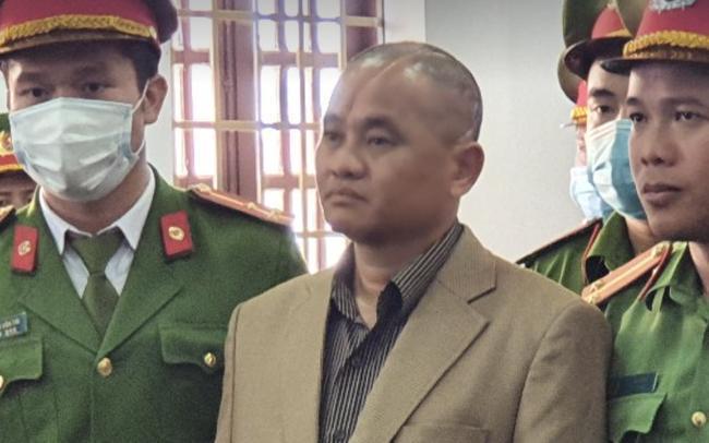 Bị cáo Đỗ Văn Minh tại phiên tòa sơ thẩm. (Ảnh: H.T.)