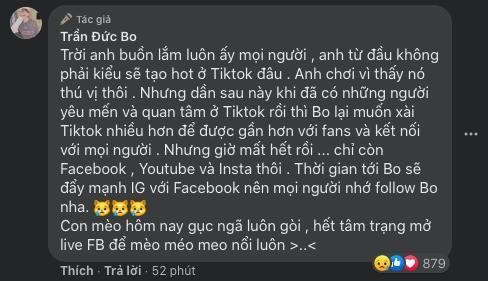 Trần Đức Bo bỗng dưng bị xoá mất tài khoản TikTok, nguyên nhân khiến chính chủ đau đầu 4