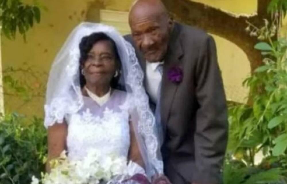 Đám cưới của cụ bà Evelina Meadder-Wilsonvới ông Calgent Wilson.