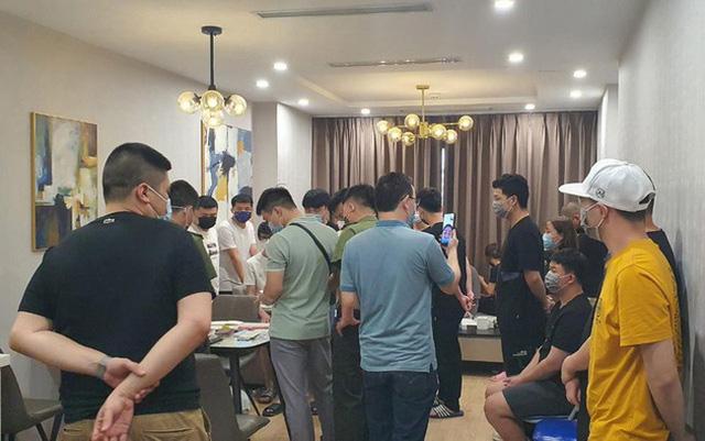 Bên trong một căn phòng nơi nhóm người nước ngoài nhập cảnh trái phép ở và sinh hoạt. (Ảnh: ANTĐ)
